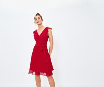 Oasis Pleated Skater Dress