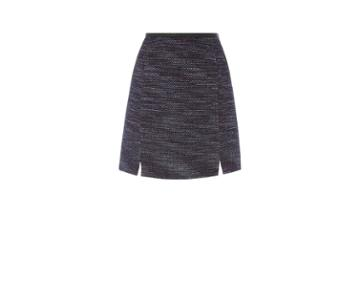 Oasis Merlot Tweed Poppy Skirt