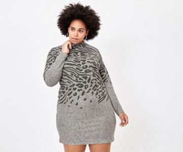Oasis Curve Animal Bodycon Dress