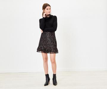Oasis Star Lace Flippy Skirt