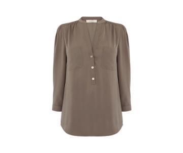 Oasis 3/4 Sleeve Half Placket Shirt