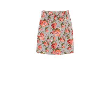 Oasis Rose Texture Print Skirt