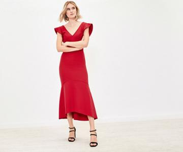 Oasis Fishtail Midi Dress