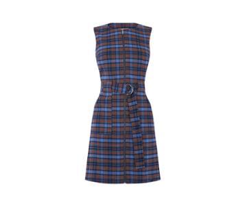 Oasis Blue Check Shift Dress