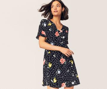 Oasis Avery Floral Spot Dress