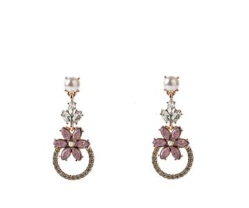 Oasis Crystal Flower Earrings