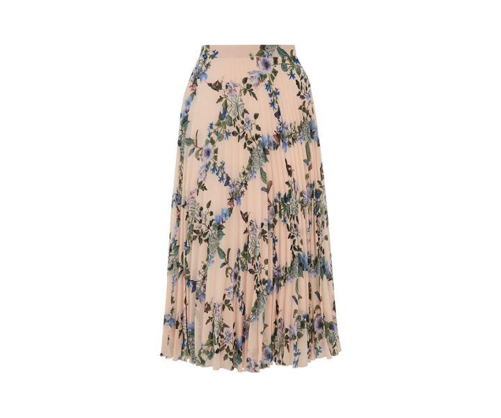 Oasis Printed Pleated Skirt