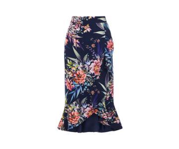 Oasis Citrus Floral Frill Skirt