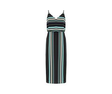 Oasis Stripe Tie Back Midi