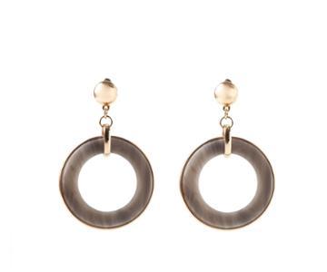 Oasis Round Resin Earrings