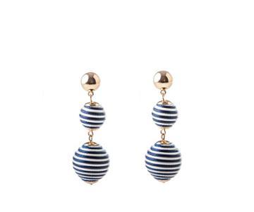 Oasis Striped Orb Earrings