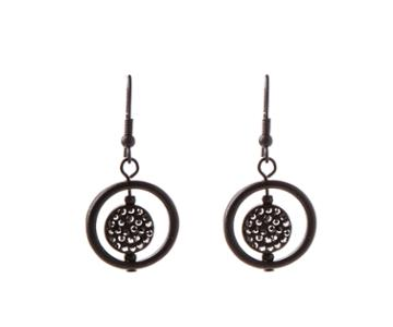 Oasis Crystal Disc And Ring Earrings