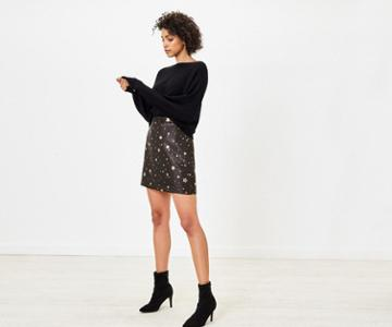 Oasis Jacquard Star Mini Skirt