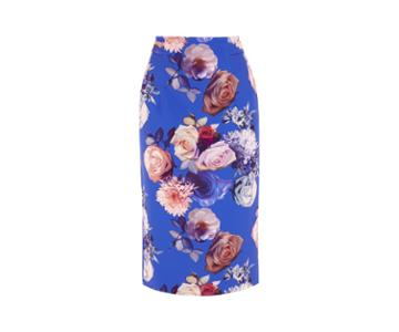 Oasis Rose Pencil Skirt