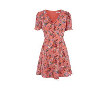 Oasis Utility Rose Tea Dress