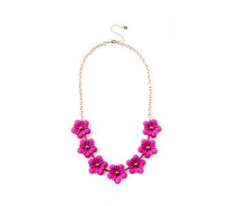 Oasis Fuschia Flower Necklace
