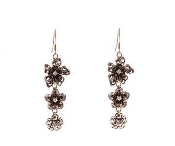 Oasis Crystal Flower Drop Earrings