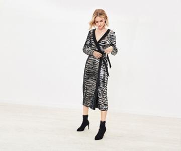 Oasis Tiger Sequin Midi Dress