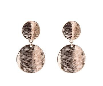 Oasis Double Textured Disc Earrings