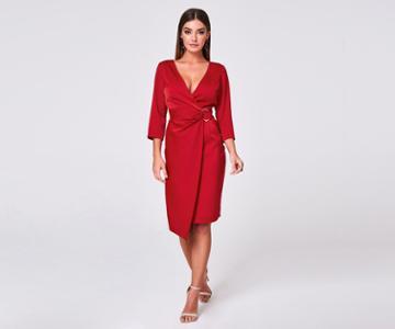 Oasis Buckle Wrap Dress