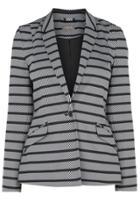 Oasis Stripe Ponte Jacket Petite