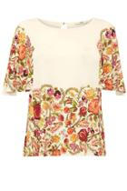 Oasis Embroidered Floral Top