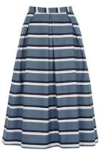 Oasis Stripe Midi Skirt