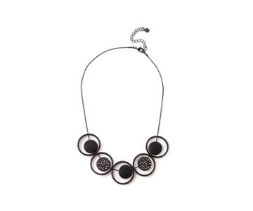 Oasis Crystal Disc And Ring Necklace