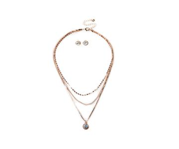 Oasis Delicate Layered Necklace And