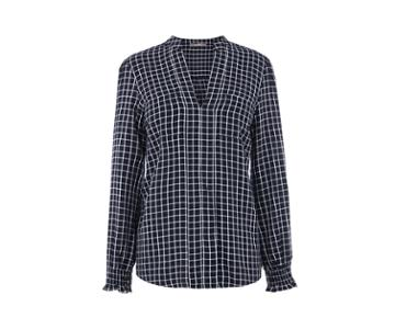 Oasis Check Sheared Cuff Shirt
