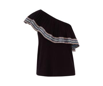 Oasis One Shoulder Aztec Top