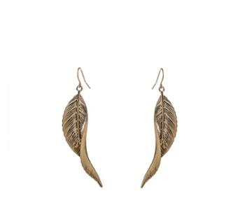 Oasis Twisted Leaf Drop Earrings