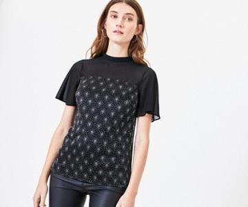 Oasis Star Embellished Top