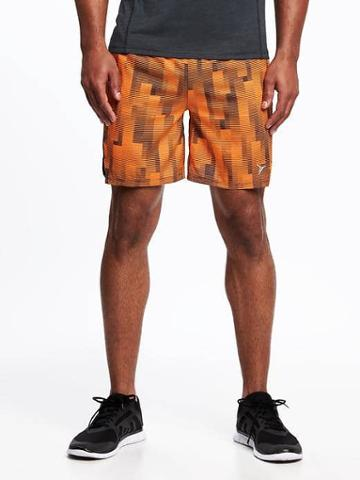Old Navy Go Dry Fitted Running Shorts For Men 7 - Synergy Orange Neon