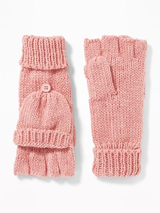 Old Navy Womens Convertible Flip-top Gloves For Women Pink Size One Size