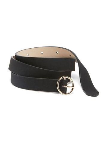 Old Navy Sueded O Ring Buckle Belt For Women - Blackjack
