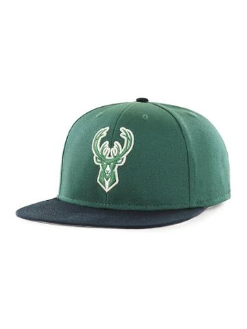 Old Navy Mens Nba Team-graphic Flat-brim Cap For Adults Milwaukee Bucks Size One Size