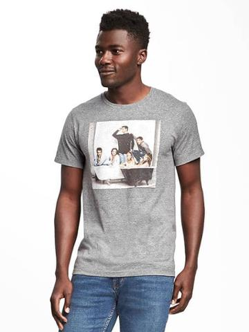 Old Navy Friends Graphic Tee For Men - Heather Gray