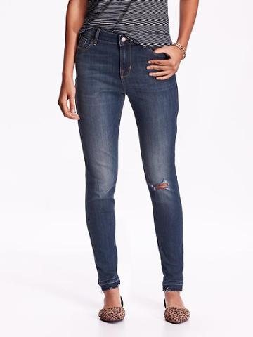 Old Navy Womens High Rise Rockstar Distressed Jeans Size 18 Petite - Kirrie
