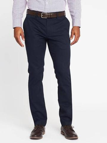 Old Navy Slim Signature Built In Flex Non Iron Pants For Men - Wined Down