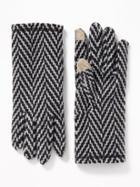 Old Navy Womens Text-friendly Go-warm Performance Fleece Gloves For Women Dark Herringbone Grey Size One Size