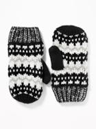 Old Navy Womens Sweater-knit Mittens For Women Black Combo Size One Size
