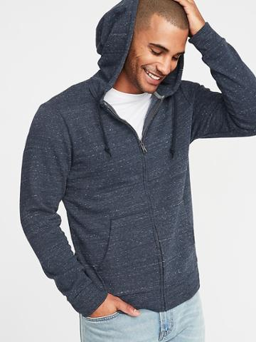 Old Navy Mens Soft-washed Zip-front Hoodie For Men Blue Size M