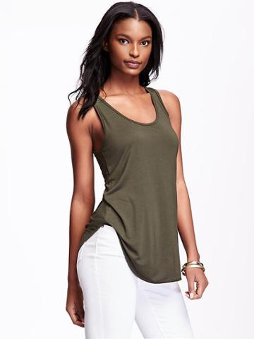 Old Navy Relaxed Jersey Tank For Women - Forest Floor