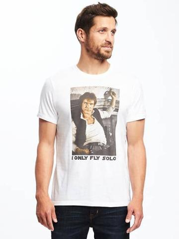 Old Navy Star Wars I Only Fly Solo Tee For Men - I Only Fly Solo