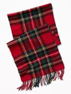 Old Navy Mens Patterned Flannel Scarf For Men Red Plaid Size One Size