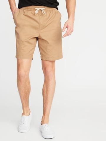 Built-in Flex Twill Drawstring Jogger Shorts For Men - 9-inch Inseam