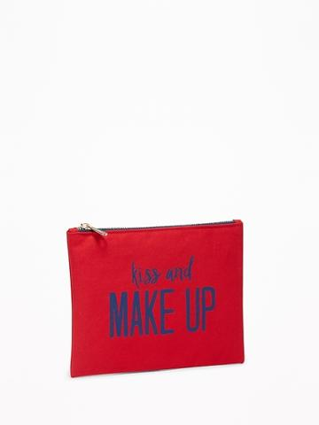 Printed Canvas Cosmetic Bag For Women