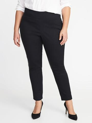 Old Navy Womens High-rise Pull-on Plus-size Pants Black Size 18