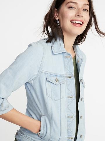 Light-wash Denim Jacket For Women